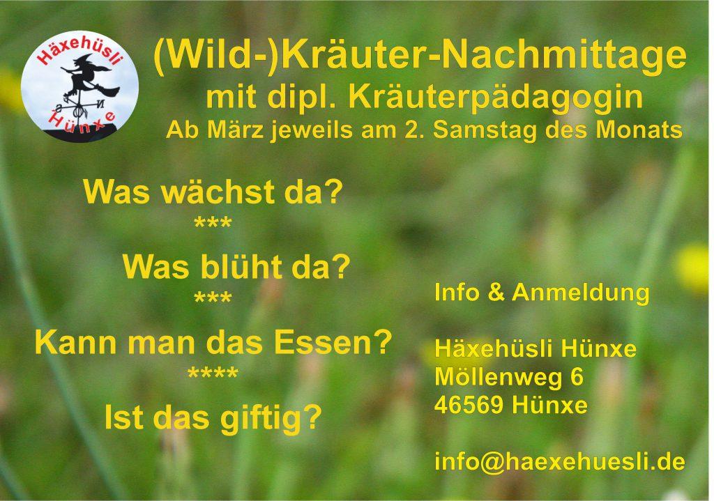 (Wild-)Kräuter-Nachmittag @ Häxehüsli Hünxe